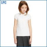 Рубашка ворота шнурка хлопка для благородной школьной формы