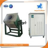 Metálica de acero de 50kg de cobre de calentamiento por inducción Horno de Fundición de inclinación