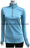 Maglietta lunga normale degli abiti sportivi di addestramento del manicotto per le donne con la freccia riflettente