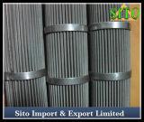 Filtre plissé à haute pression de treillis métallique d'acier inoxydable