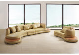 2017 Hot-Selling cuero blanco y moderno sofá con chaise (HC1069)