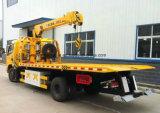 クレーントラックが付いているクレーン8tレッカー車が付いている貨物自動車のトラックを持ち上げる4トン