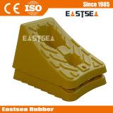 Cuña Amarilla Doble Plástica Barata de la Parada de la Rueda para los Coches