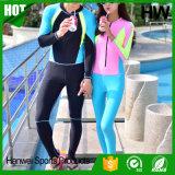 Terno de mergulho curto à prova de água não tóxica colorido sem costura (HW-W007)