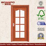 Badezimmer-hölzerne einzelne Glastür (GSP3-004)