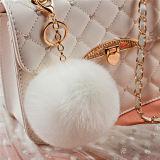 優雅なRexのウサギの毛皮のPompon Keychain