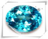 Stenen van de Gem van Aqua van het Zirkoon van de AMERIKAANSE CLUB VAN AUTOMOBILISTEN de Ovale Blauwe voor het Afgietsel van de Was