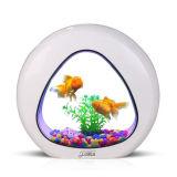 Mini Eco Criativo Acrílico Goldfish Desk Acrylic Aquarium Fish Tank
