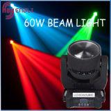 60W bewegliches Träger-Punkt-Licht Birne des Kopfes LED