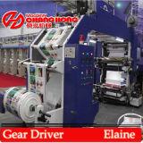 Belt Drive - Machine d'impression Flexo haute vitesse à 6 couleurs (CJ886)