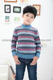 デザイン肋骨によって縞で飾られる模造されたプルオーバーの子供の衣類