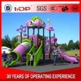 耐久の子供のスライドは庭のプラスチックプレイハウスHD16-056Aをからかう