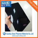 Strato lucido rigido del PVC del nero del film di materia plastica in rullo