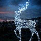 Lichten van het reuze LEIDENE Motief van het Rendier de Decoratieve voor de Decoratie van Kerstmis