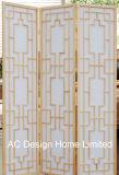 Color natural Non-Woven clásico papel de arroz y de Madera plegable de estilo japonés Shoji espacio en la pantalla del panel divisor X 3