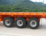 Semi-reboque Flatbed de 3 pés com 3 pés / Single Tire