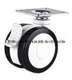 3/4 Twin-Wheels Medical ruedas giratorias con freno