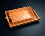 Het Dienblad van het bamboe/Houten Dienblad (07-130BT)