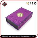 リサイクルされた物質的な長方形によってカスタマイズされるロゴペーパー包装ボックス