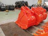 高品質の長い耐久性20tの掘削機の石のバケツ