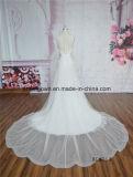 Cauda longa Lace Mermaid vestido de casamento