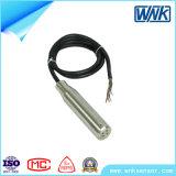 Transmissor nivelado submergível de IP68 1-5V 4-20mA, preço da Sensor-Fábrica do nível de água
