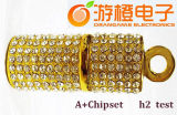 Mecanismo impulsor cristalino con estilo del flash del USB del collar con Keyling (OM-C117)