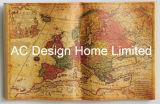 Arte di legno antica della parete di figura del libro dell'unità di elaborazione Leather/MDF del programma del Vecchio Mondo