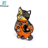 사랑스러운 만화 고양이와 개 금속 사기질 핀