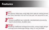 Telescopio Hands-Free portatile di vetro dell'occhio dell'oculare HD del telescopio