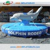 Adorável insufláveis dos Golfinhos Mecânica Rodeo Bull para crianças