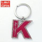 편지를 가진 승진에 의하여 주문을 받아서 만들어지는 S자 R N W 모조 다이아몬드 알파벳 Keychain