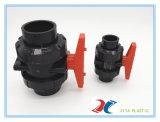 O PVC/UPVC/esfera dupla válvula da União para o abastecimento de água