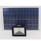 Для использования вне помещений Светодиодный прожектор солнечной энергии с 10/20/30/50W для сада лужайке Пост Стрит лампа