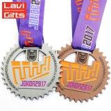 Alliage de zinc personnalisée cuivre antique Prix de métal blanc Sport Championnat médaillon et le trophée de la Médaille de Karaté