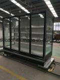 Congelatore di frigorifero di vetro della visualizzazione del portello del gelato