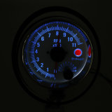 Sc100143 3,75 pulgadas coche 0-11000 Tacómetro Manómetro de rpm Chrome Rim medidor rpm doble puntero indicador automático