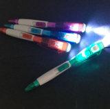 Cadeau cadeau de promotion de lumière à LED en plastique Stylo à bille avec logo