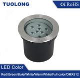 Justierbares helles rundes vertieftes Garten-Licht LED-9W 18W LED Inground