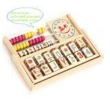 Os números do bebé Arithmatics madeira Cordão de Matemática Abacus Alfabeto brinquedo educacional das crianças