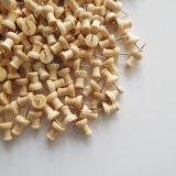 Mango de madera forma de cabeza de acero de los pasadores de pulgar tachuelas para tableros de corcho Mapa