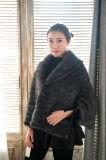 Новых женщин одежда мода трикотажные норки мех слой с заводская цена