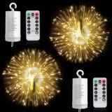 Dimmable feenhafte Lichter mit Fernsteuerungs-, batteriebetriebenem hängendem Regenbogen-Farben-Feuerwerk beleuchtet LED-Zeichenkette-Kupfer-Lichter