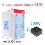 De witte Levering van de Macht van de Ventilator van PC Case+200W van de Honingraat Kleine Grote