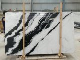 Mattonelle di marmo bianche del marmo della lastra del panda