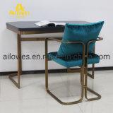 Mobiliário de escritório assento de tecido em aço inoxidável de Metal Cadeira de lazer da sala de reunião
