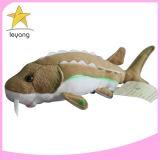 Pequeño gato interactivo de tejido blando juguete Llenado de peces de Hierba gatera Cat juguete de peluche