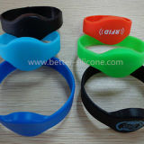 Fashion Elastomer Energy RFID Smart borracha pulseira de silicone