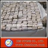 Comercio al por mayor baratos pavimentación con piedra de granito G682 de adoquines amarillo