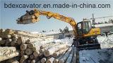 Machine en bois Bd80-8 de Loaidng d'excavatrices de roue de Baoding